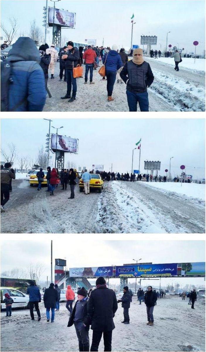 (تصاویر) کابلهای مترو خط پنج مترو یخ زد، مردم سرگردان شدند